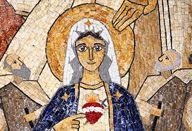 Mosaico 2011 detalle virgen