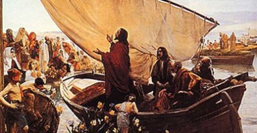 Jesus-habla-a-la-gente-desde-la-barca-de-Pedro