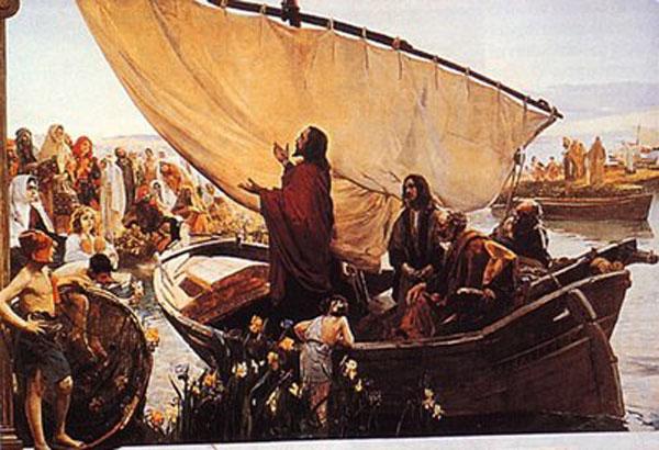Jesus-habla-a-la-gente-desde-la-barca-de-Pedrob