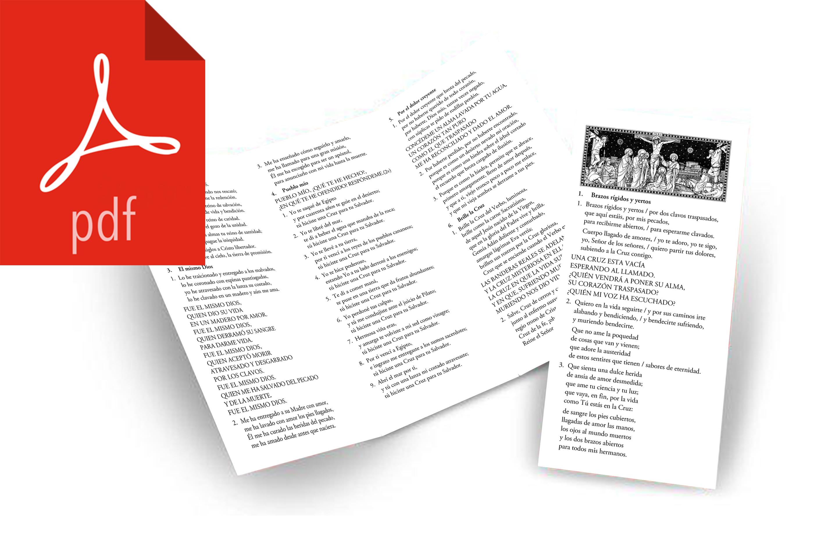 triptico Cancionero Via Crucis PDF