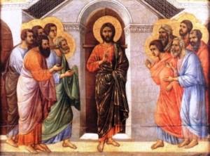 Resucitado y apostoles