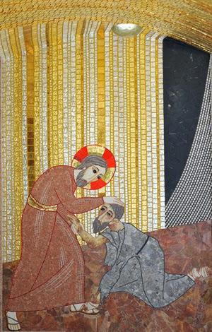 Cristo cura al leproso