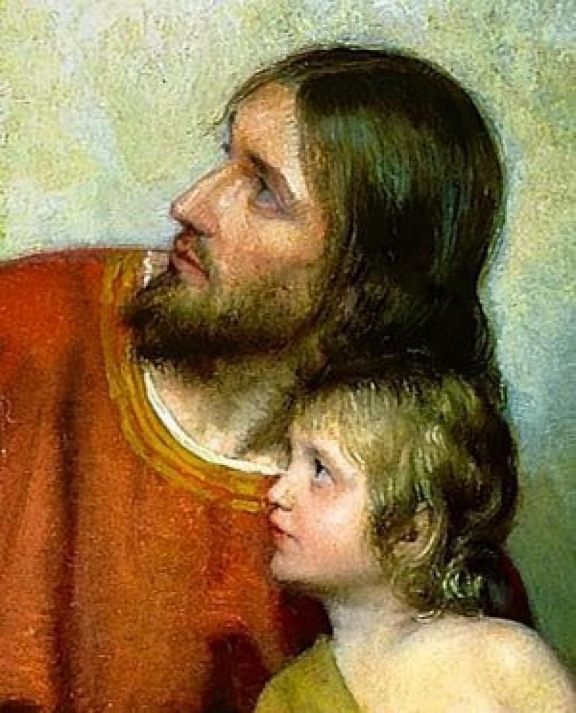 Jesus con un nino