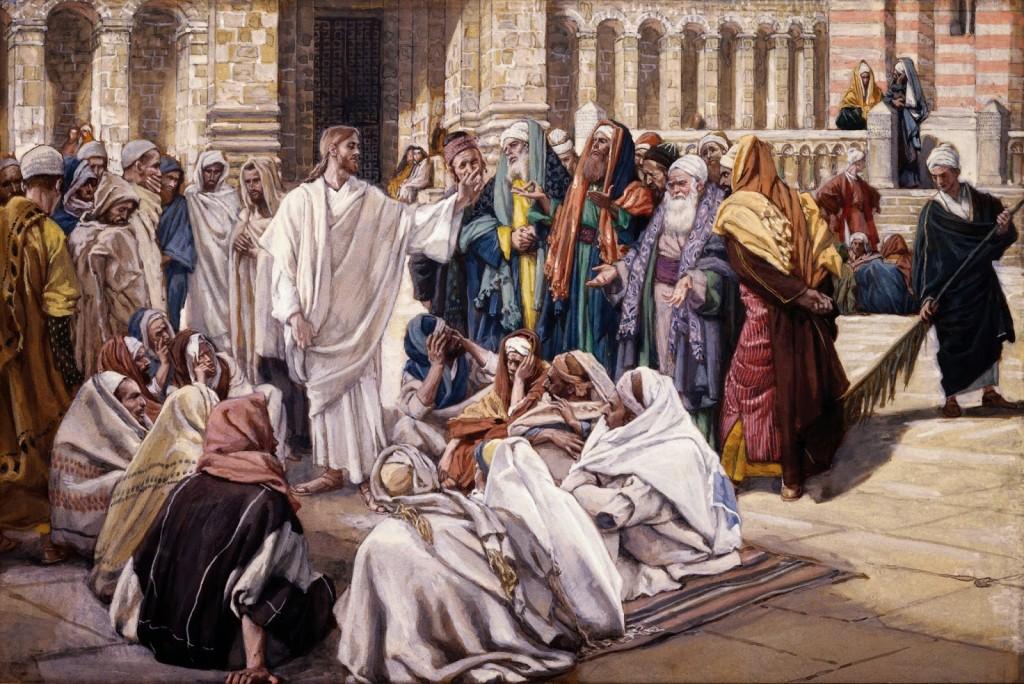 Fariseus questionam Jesus (Tissot)