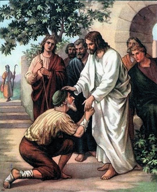 Jesus curando leproso