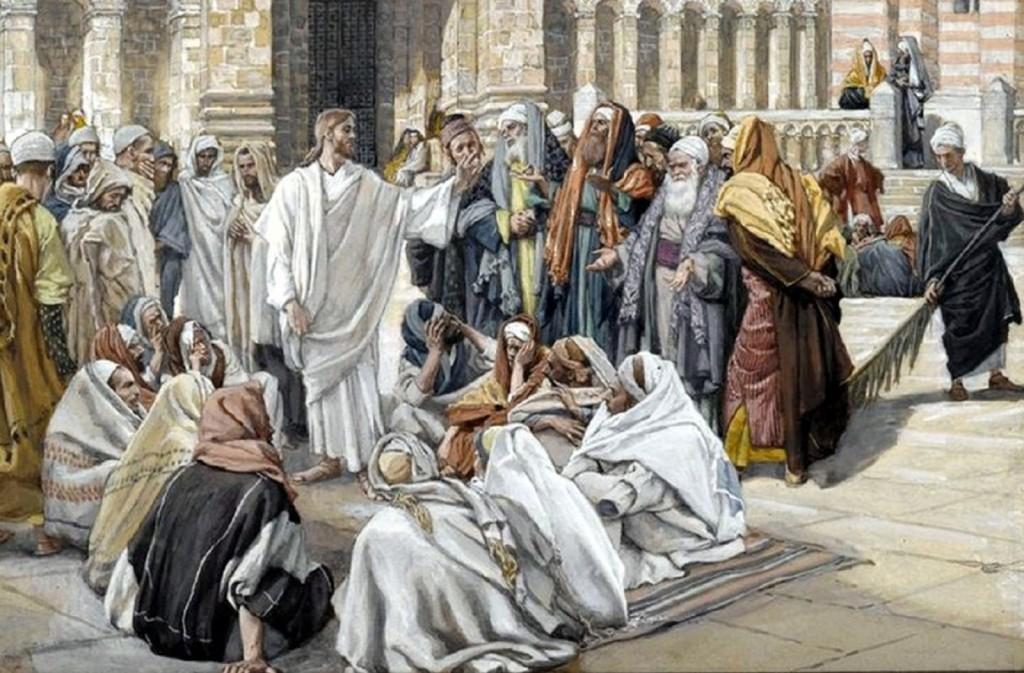 The Pharisees Question Jesus (Les pharisiens questionnent Jésus)-001