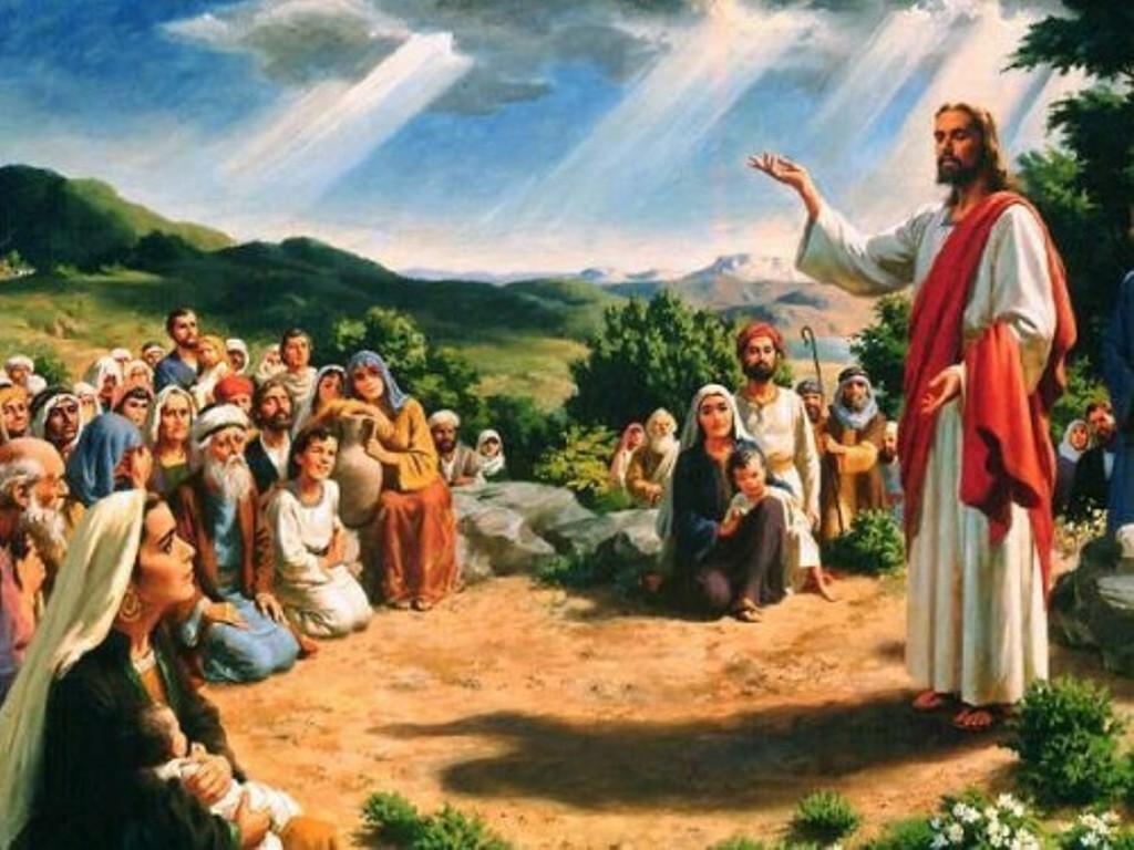 Resultado de imagen de jesus predicando